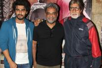 Amitabh Bachchan, Varun Dhawan attend special screening of 'Ki and Ka' with Arjun Kapoor and R Balki