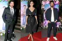 Shah Rukh Khan joins Alia Bhatt, Fawad Khan for 'Kapoor and Sons' success bash