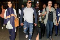 Salman Khan Sports A Casual Look, Kangana Ranaut Goes Traditional