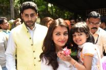 Rani Mukerji, Kajol, Ranbir Kapoor Step Out In Style For Durga Puja Celebrations