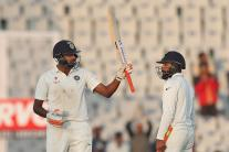 In Pics: India vs England, 3rd Test, Day 2 in Mohali