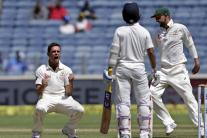 In Pics: India vs Australia, 1st Test, Day 2 in Pune