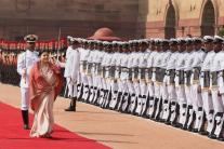 Ceremonial Reception of President of Nepal, Bidhya Devi Bhandari at Rashtrapati Bhavan