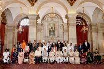 Padma Awards Ceremony 2017 at Rashtrapati Bhavan in New Delhi
