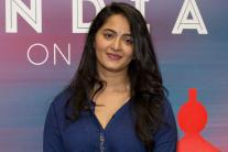 Anushka Shetty, SS Rajamouli  at 'Baahubali 2 - The Conclusion' photocall in London