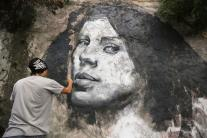 Street Artists create open air graffiti gallery in Rio's oldest favela