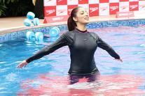 Yami Gautam Practices Underwater Fitness Training