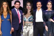 Celebrities at the launch of the BMW 5 series