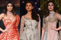 Huma Qureshi, Shilpa Shetty, Aditi Rao Hydari at India Couture Week 2017