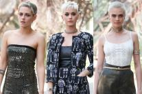 Kristen Stewart,  Katy Perry, Cara Delevingne at the Chanel Haute Couture show in Paris