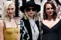 Jennifer Lawrence, Natalie Portman, Karlie Kloss at the Dior Paris Haute Couture show