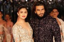 Ranveer Singh and Alia Bhatt at India Couture Week 2017