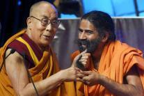 Baba Ramdev meets Dalai Lama at World Peace and Harmony Conclave