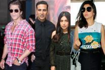 Star Spotting: Anushka Sharma, Shah Rukh Khan, Akshay Kumar, Bhumi Padnekar, Ranveer Singh...