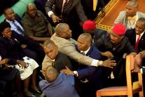 Ugandan politicians fight in Parliament