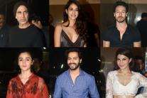 Bollywood Stars at Special Screening of Judwaa 2