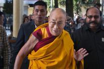 Tibetan Spiritual Leader 'Dalai Lama' at the Tsuglakhang Temple in Dharmsala