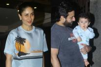 Kareena Kapoor, Saif Ali Khan, Taimur Ali Khan at Soha Ali khan's Birthday Bash