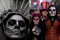 Parade of the Skeletons in Mexico City