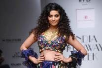 Saiyami Kher walks the ramp at India Runway Week in Delhi