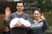 Esha Deol, Bharat Takhtani Bring Their Newborn Home