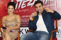 Sunny Leone, Arbaaz Khan Promote 'Tera Intezar' in Delhi