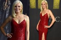 Elizabeth Stuns in Thigh-High Slit Gown at 'Pitch Perfect 3' Premiere