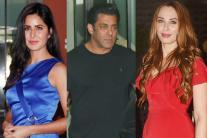 Katrina, Salman Khan, Iulia Vantur at Arpita Khan's Christmas Party