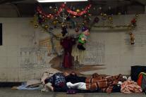 Homeless People Spend Christmas Sleeping in London Streets