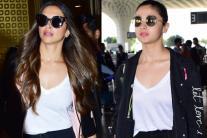 Deepika Padukone, Alia Bhatt Spotted at Airport; See Pics