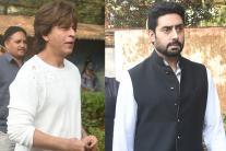 Nikhil Dwivedi's Father's Funeral: SRK, Abhishek Pay Last Respects