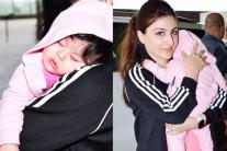 Soha Ali Khan with Sleepy Inaaya Spotted at Airport; See Pics