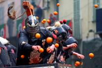 Italy's 'Battle of the Oranges' in Ivrea Carnival; See Pictures