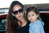 SPOTTED at Airport: Mira Rajput With Cute Daughter Misha