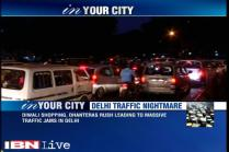 Heavy traffic jams reported in Delhi on Dhanteras