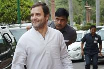 Rahul Gandhi  Enjoys 'Paan' Brought by Party Workers During Unnao Road Show