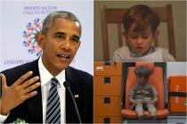 Barack Obama Shares Video of Child Offering Home To Boy In The Ambulance