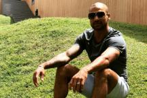Shikhar Dhawan Enjoys the 'Grass' Ahead of Training Session