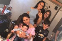 Taimur Steals the Thunder From Kareena, Karisma in a Recent Photo