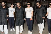 Kareena-Saif Visit Soha On Their Wedding Anniversary