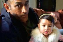 Ziva Steals Show as She Carries Drinks for MS Dhoni