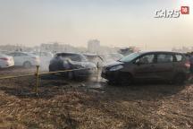 Exclusive Video – Parking Lot Fire Engulfs Honda Amaze, Maruti Swift, Ertiga at Auto Expo 2018