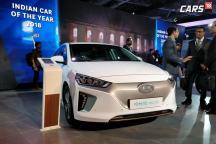 Hyundai IONIQ Electric Vehicle Showcased at Auto Expo 2018