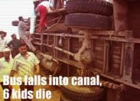 Bus falls into canal, 6 kids die