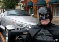 Batman rescues town infested by bats