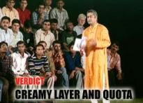 Verdict: Creamy layer and quota