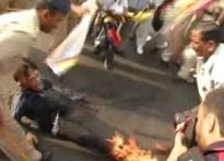 Tibetan man on fire near Hu hotel
