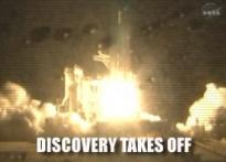 Discovery finally sets off to space