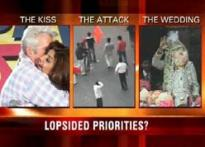 Reporting on wedding and kisses