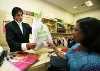 Big B goes shopping for charity